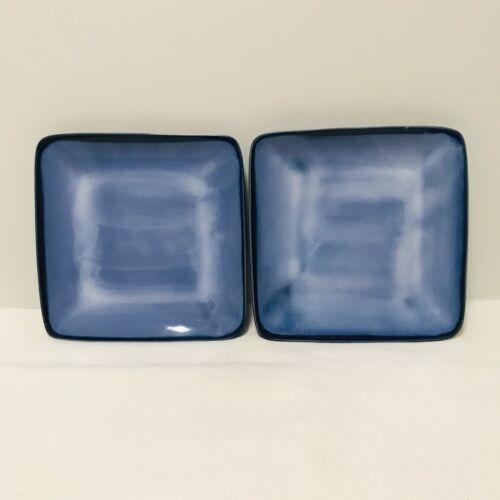 RARE Set of 2 Sango Nova Blue Square Salad Plates