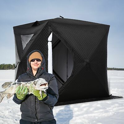 Portable Ice Fishing Tent Shelter With Ventilation Windows Carry Bag - $119.99