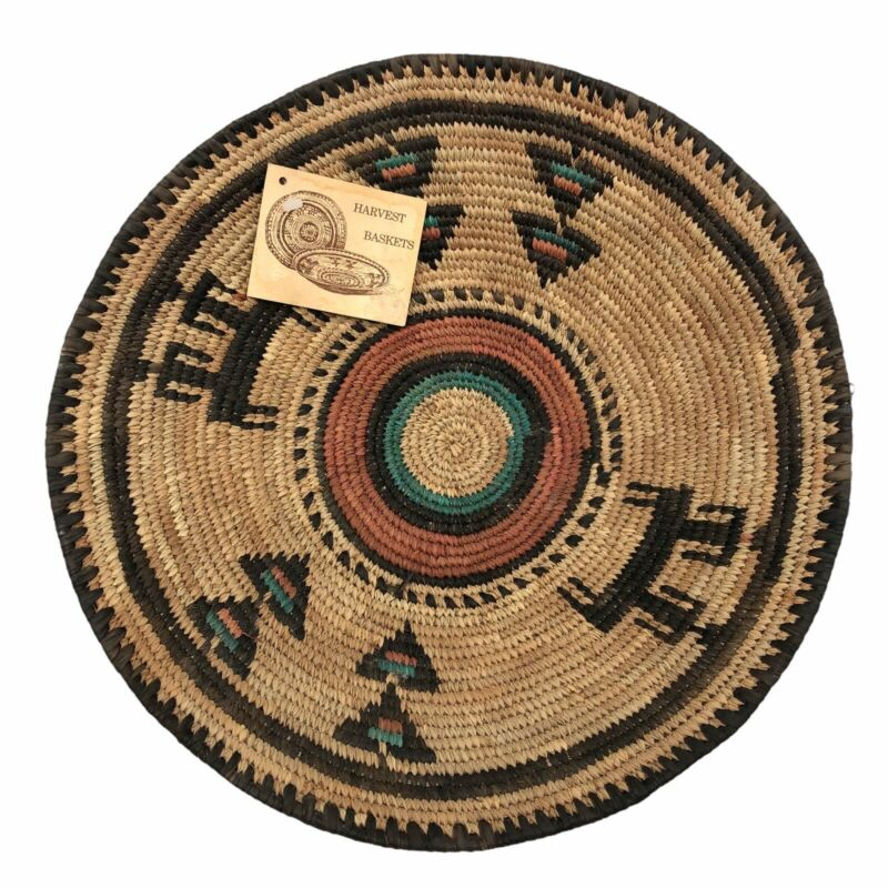 African Hausa Tribal People Woven Coil Traditional Savanna Grass Basket Nigeria