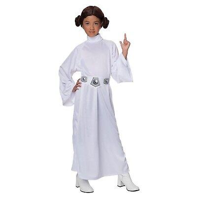 Rubie's Princess Leia Costume Girl's Star Wars Dress Up Halloween Medium 5-7 New - Girl Princess Leia Costume