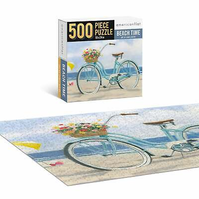 Jigsaw Puzzle Game for Adults Kids Beach Time 500 Piece Contemporary Puzzles