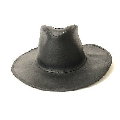 Henschel Leather Hat  Hatquarters USA Size Small Black Western
