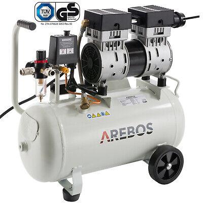 Druckluft Kompressor Luftkompressor Flüsterkompressor 800 W 24 L 54,5dB(A) leise