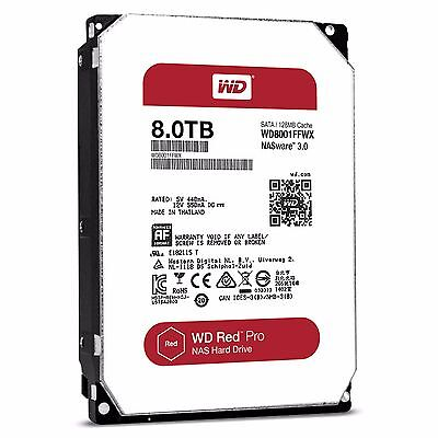WD Red Pro 8TB NAS Desktop Hard Drive Intellipower 6 GBs 128 MB Cache WD8001FFWX