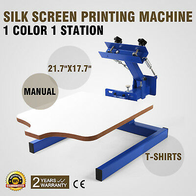 1 Color 1 Station Screen Printing Machine Manual Silk Printing T-shirt Great