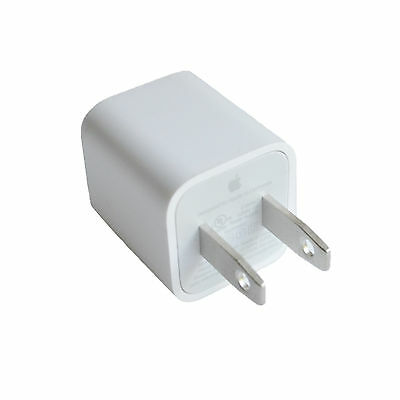 OEM Real Apple 5W USB Power Adapter Charger Wall Plug Cube for iPhone iPod
