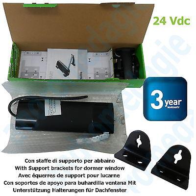 SMART 24V BLACK + SUPPORT BRACKETS FOR DORMER WINDOW BLACK Skylights Motor