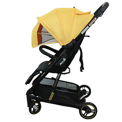 Allis Speedy Pram Travel Stroller Baby Pushchair Lightweight - Yellow