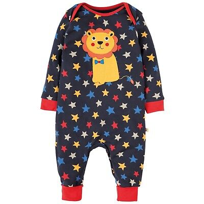 Frugi Baby's Organic Cotton Charlie Romper in Starlight for 12-18 Months