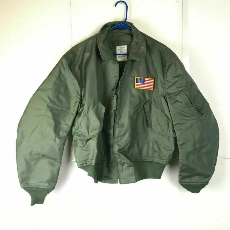 Green Mens X-Large 46-48 Summer Military Flyers Jacket
