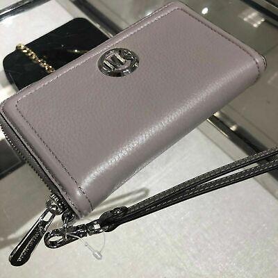 Michael Kors Women Leather Wallet Clutch Phone Case Wristlet Purse Handbag Bag