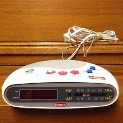 Vintage Playskool Melody Kids Digital Clock Alarm Music AM/FM Radio Model PS-360