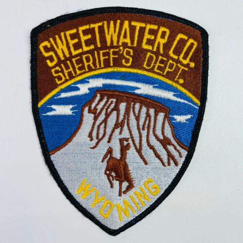 Sweetwater County Sheriff Wyoming WY Patch