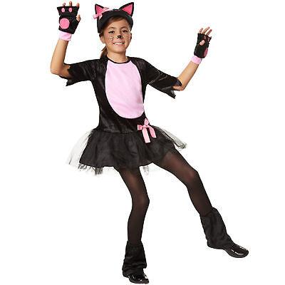 Kostüm Mädchen Katze Kätzchen Cat Katzenkostüm Katzenkleid Fasching (Schwarze Katze Mädchen Kostüme)