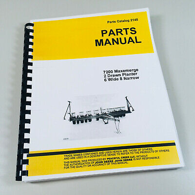 Parts Manual For John Deere 7200 Maxemerge 2 Planter Catalog Seed Grain Corn