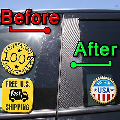 CARBON FIBER Di-Noc Pillar Posts for Hyundai Santa Fe 07-12 8pc Set Door Trim
