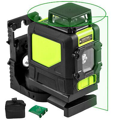 Rotary Laser Level Kit Self-leveling 5 Line Green Beam 98 Range 3d Cross 360