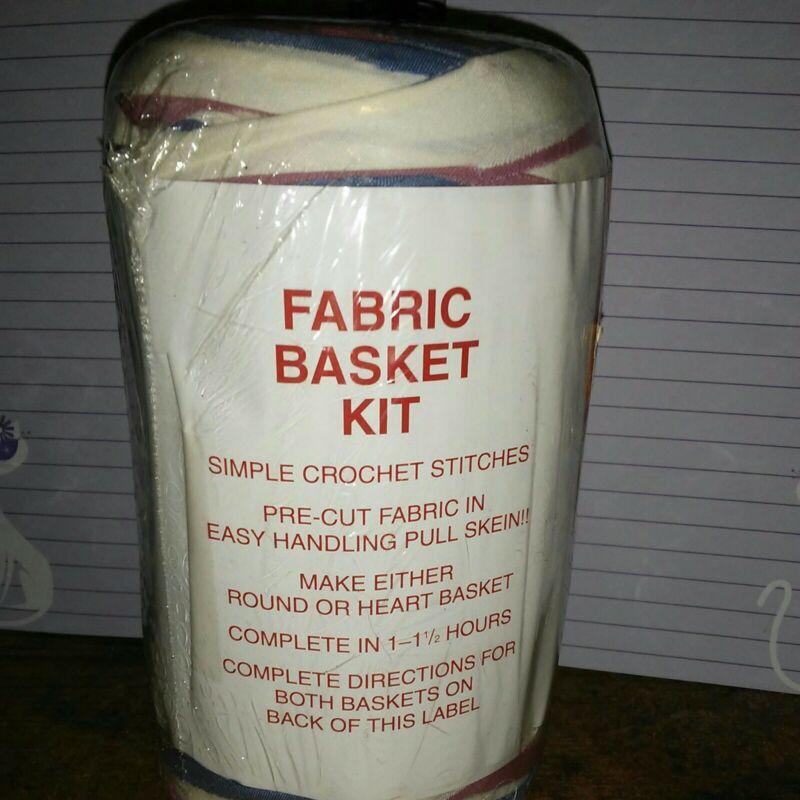 Rag Yarn Precut Fabric Strips Basket Kit 15oz Rose White Blue