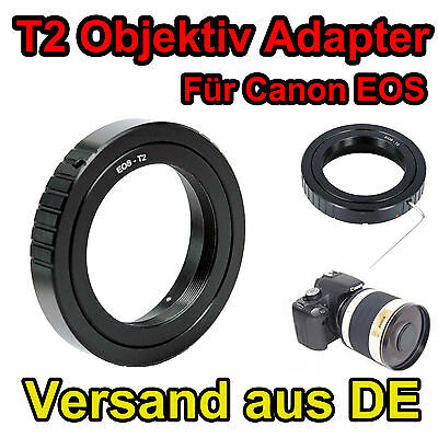 T 2 T-2 Objektiv Adapter T2 Ring für T2 Objektiv an Canon Kamera