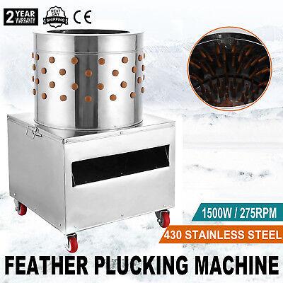1500w Stainless Turkey Chicken Plucker Plucking Machine Poultry De-feather 50cm