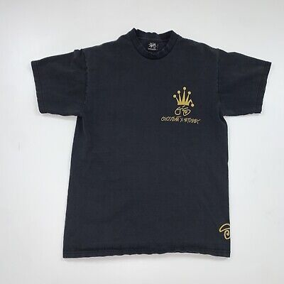Vintage Stussy T-Shirt Size Mens Medium Black