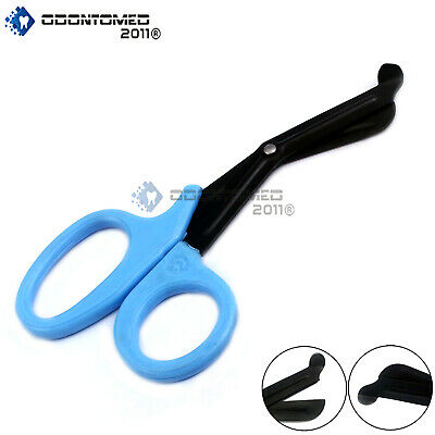 Fluoride Coated Medical Scissors Emt And Trauma Shears Paramedic Sky Blue 7.25