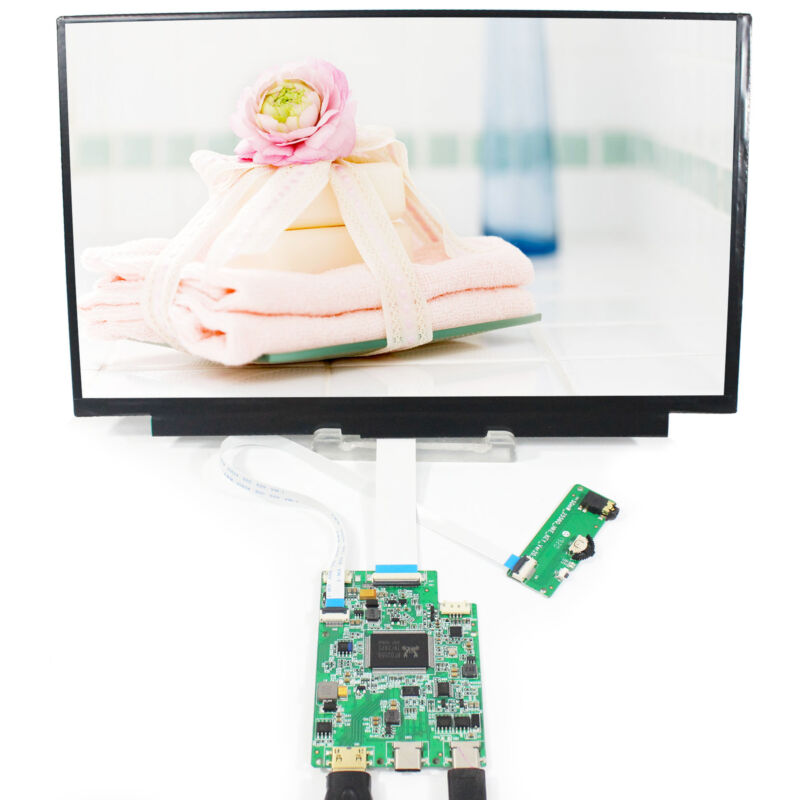 Type C HD MI LCD Controller Board With 11.6 in N116HSE  1920X1080 IPS LCD Screen