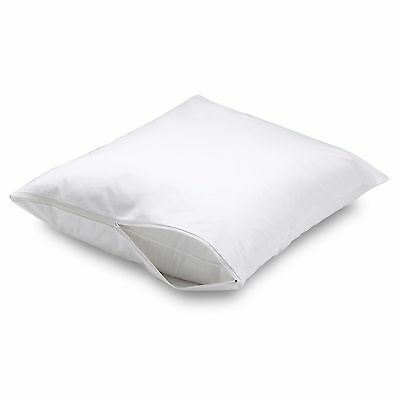 4 Pack Premium Deluxe Luxurious Fabric Zippered Pillow Cover Bed Bug Protector
