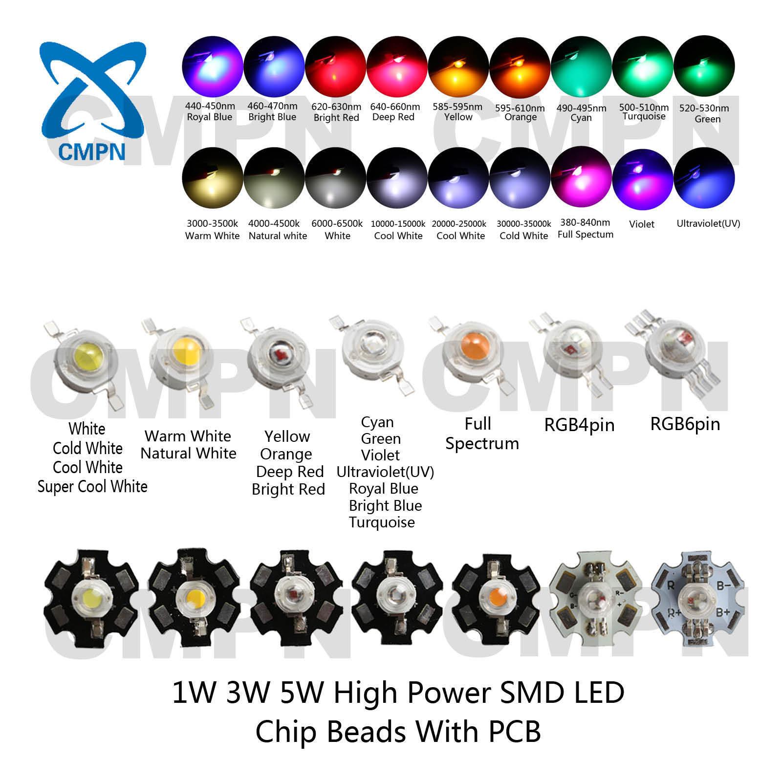 20W Watt High Power Cool Natural Warm White Deep Red Royal Blue Light LED Chip
