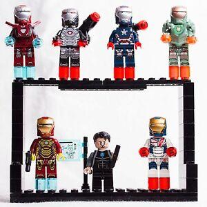 LEGO MINIFIGURES MARVEL LOTTO 7 MINIFIG IRON MAN MK TONY STARK CUSTOM LIKE - Italia - LEGO MINIFIGURES MARVEL LOTTO 7 MINIFIG IRON MAN MK TONY STARK CUSTOM LIKE - Italia