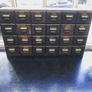1800's antique 24 drawer apothecary cabinet