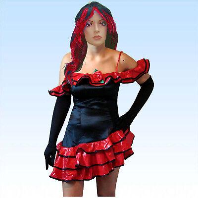 Kleid Flamenco Tänzerin Gr. M Tanz  Kostüm Tanzkleid Faschingskostüm Partykleid