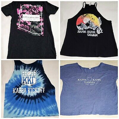 Lot Of 4 Kappa Kappa Gamma ASU Sorority Shirts Size Small