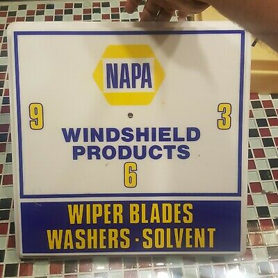 VTG NAPA Windshield Products Auto Parts Advertising Ad Sign Mechanic CLOCK FACE