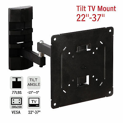 Full Motion Swivel TV Wall Mount Bracket LCD LED Plasma Flat Tilt 22 27 32 37