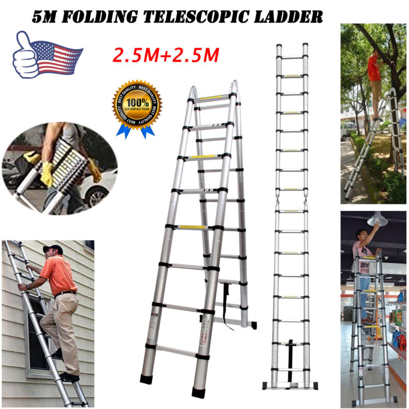 Portable 5M A-Ladder Folding Retractable Caravan RV Parts Accessories Household