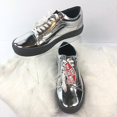 NWT Vans Ultracush Chrome Silver Skate Sneaker Mens SZ 11 Women SZ 12.5