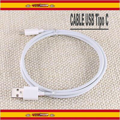 CABLE TIPO C 3.1 USB BLANCO 1m COMPATIBLE CON Samsung huawei xiaomi