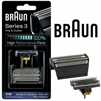 New Mens Braun 31B Replacement Foil & Cutter Head Combi Pack 5000 6000 Series Cutter Combi Pack