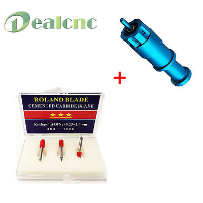 1 Pc Cricut Blade Holder 3 Pcs Roland Blade For Vinyl Cutter Cutting Plotter
