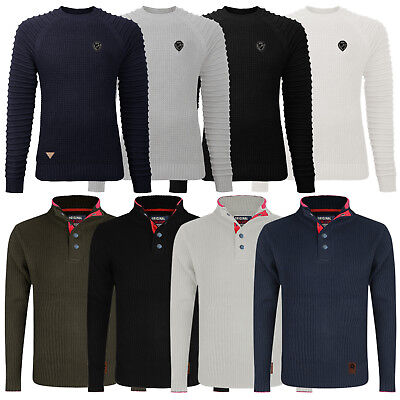 Mens Crew Neck Jumper Stallion Knitwear Sweaters Top Pullover Knitted Jacket New