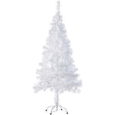 Árbol de Navidad Artificial Arbol Plástico Abeto Interior 310 Ramas 150cm Blanco