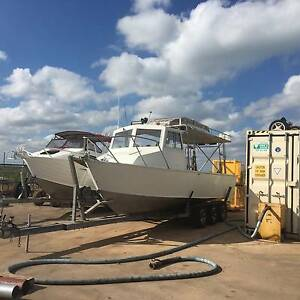 BOAT FOR SALE ALUMINIUM 25FT WET DECK VOLVO AD41P East Arm Palmerston Area Preview