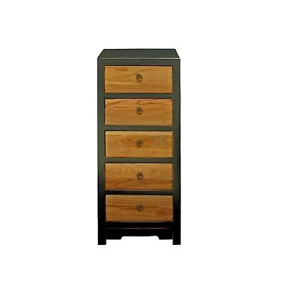 Black & Brown Five Drawers Slim Chest of Drawers Cabinet cs4184 Brown Five Drawer Chest