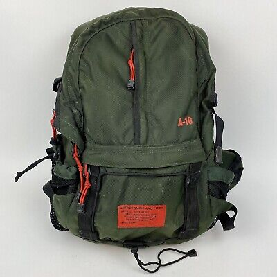 Abercrombie and Fitch A-10 A10 Backpack Green Padded Straps Durable Rare Vinyage