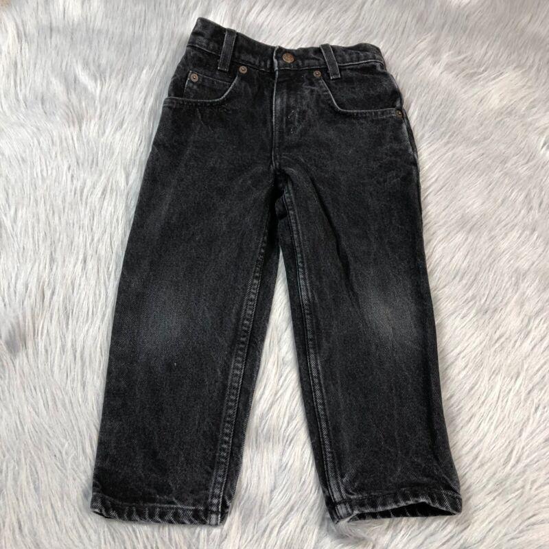 Vintage Little Levis Black Denim Jeans Size Toddler 4 Regular