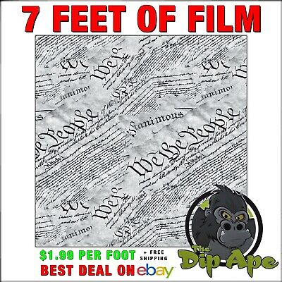 Hydrographic Film We The People 2nd Amendment Script Transparent Background 7ft