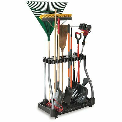 Black Tool Tower Storage Rack Garage Utility Yard Garden Organizer Holds 40 Tool