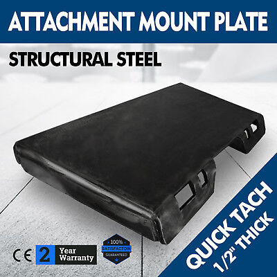 12 Quick Tach Attachment Mount Plate Concrete Breakers Adapter Kubota