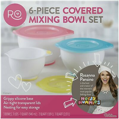 ROSANNA PANSINO by Wilton Mixing Bowl with Lids Set, -